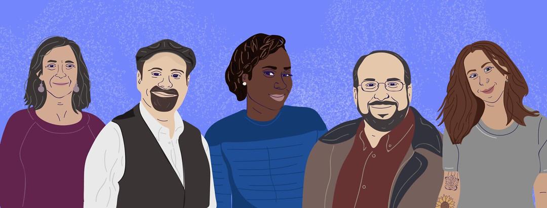 Caricatures of Blood-Cancer.com advocates
