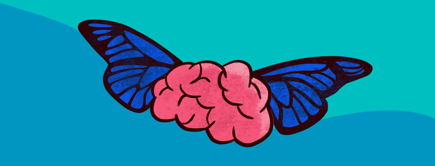 A brain with butterfly wings